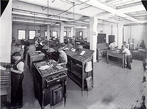 Street & Smith - Image: Street & Smith composing room circa 1900
