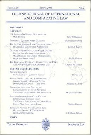 Tulane Journal of International and Comparative Law - Image: TJICL