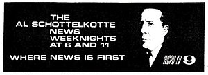 WCPO-TV - 1975 TV Guide advertisement for The Al Schottelkotte News.