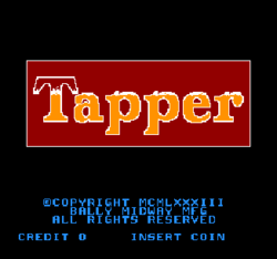Tapper title screen