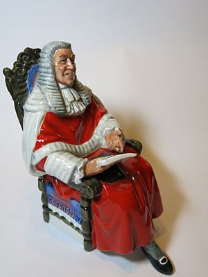 Judge - The Judge, a figurine by Royal Doulton.