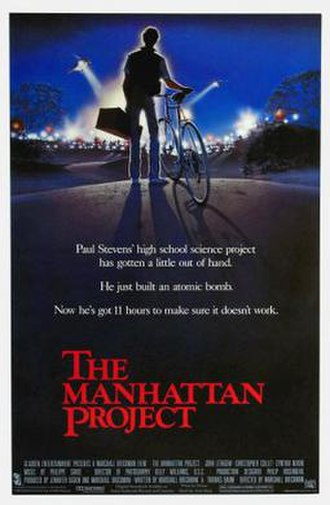 The Manhattan Project (film) - Theatrical release poster