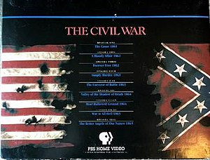 The Civil War (miniseries) - A side portion of the 1991 VHS box set of nine volumes