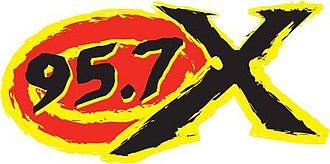WDKW - logo as 95.7 The X, 2013-2015