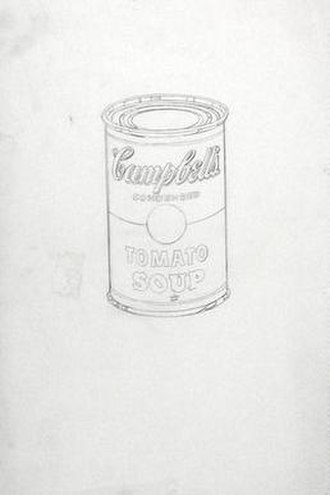 Campbell's Soup Cans - Campbell's Soup Can (Tomato), 1962. Stencils such as this are the basis for silkscreening.