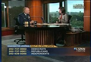 Washington Journal - Washington Journal host Greta Brawner interviews Adm. Thad Allen, USCG (Ret.) on May 26, 2010.