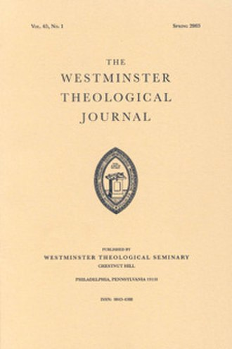 Westminster Theological Journal - Image: Westminster Theological Journal