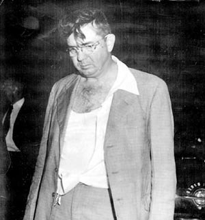 Willis V. McCall - Photo of Willis McCall taken in 1951, 15 minutes after he claimed to have been attacked by Sam Shepherd and Walter Irvin, handcuffed prisoners. He shot them both, killing Shepherd. Irvin claimed he shot them in cold blood, with no provocation.
