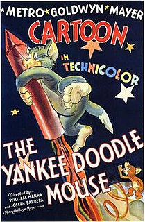 <i>The Yankee Doodle Mouse</i> 1943 film by directed by Joseph Barbera and William Hanna