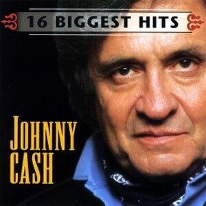 16 Biggest Hits (Johnny Cash album) - Image: 16 Biggest Hits Johnny Cash
