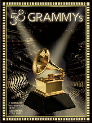 58th Annual Grammy Awards - Official poster