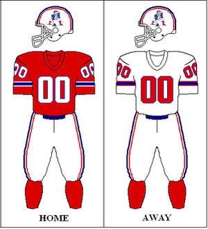 1982 New England Patriots season - Image: AFC 1982 1983 Uniform NE