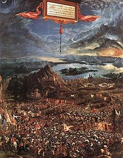 The Battle of Alexander (1529) Wood, 158,4 x 120,3 cm Alte Pinakothek, Munich.
