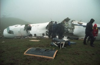 Ansett New Zealand Flight 703 - The wreckage of the aircraft the day after the crash