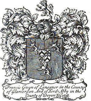 Francis Gwyn - Image: Book plate francis gwyn