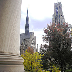 Cathedral lawn from Mellon Institute.