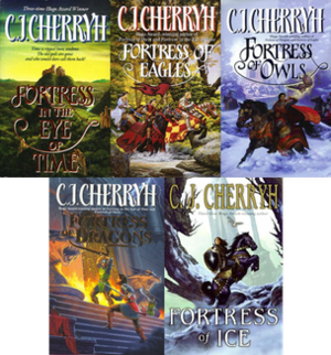 The Fortress Series - The covers of the books in the series.