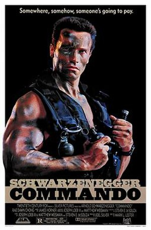 Commando (1985 film) - Theatrical release poster