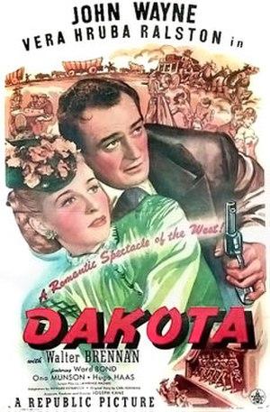 Dakota (film) - Theatrical poster to Dakota (1945)