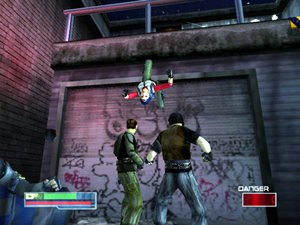 James Cameron's Dark Angel - Max may kickflip off walls over enemies to evade or attack them from behind