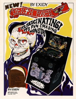 Death Race (1976 video game) - Arcade flyer of Death Race.