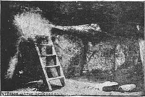Denghoog - Interior of the Denghoog, from Fians, Fairies and Picts, by David MacRitchie