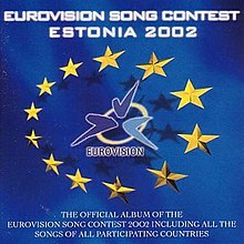 Een alternatieve hoes met de titel Eurovisie Songfestival: Estland 2002.