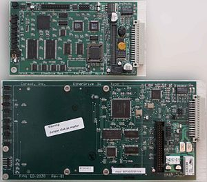 EtherDrive - Figure 1. Early EtherDrives: (Top) 2.5 PATA Blade (Bottom) 3.5 PATA Blade