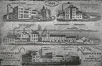 Fix (beer) - FIX factories depicted in a 1930 advertisement