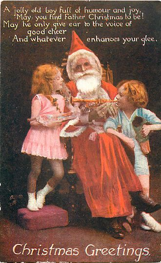 Father Christmas - Image: Father Christmas, Tuck Photo Oilette postcard 1919, front
