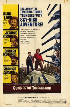 Guns of the Timberland - Theatrical release poster
