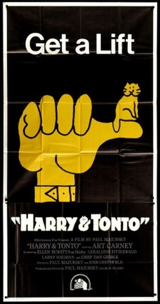 <i>Harry and Tonto</i> 1974 road movie directed by Paul Mazursky