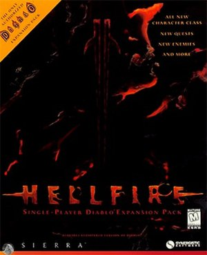 Diablo: Hellfire - Front cover artwork