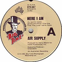 Here I Am by Air Supply Australian vinyl single A-side.jpg