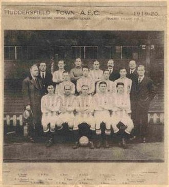 Jack Swann - Huddersfield Town A.F.C. 1919-1920 Jack Swann is second from the right in the front row.