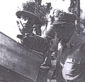 James Dalton II - James Dalton (left) with Douglas MacArthur, most likely on Luzon in 1945