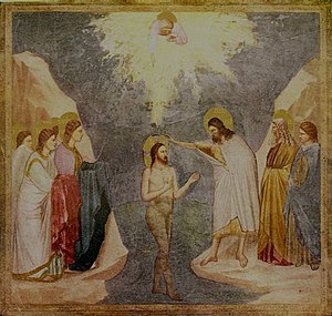 Baptism of Jesus, Bordone, Giotto 1276-1336