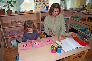 Teaching in the Montessori pre-school