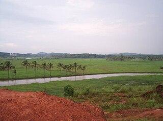Kizhakkambalam Suburb in Ernakulam, Kerala, India