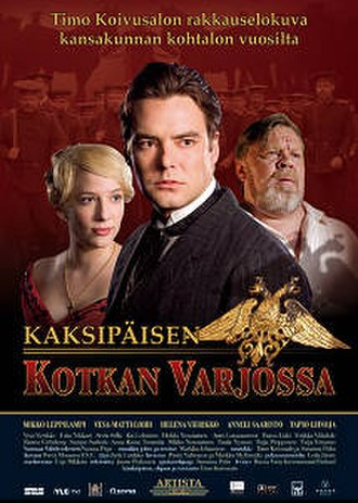 Mikko Leppilampi - Leppilampi (centre) starred as the main character in the 2005 Finnish film Kaksipäisen kotkan varjossa