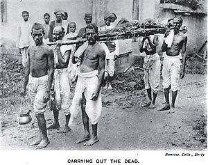 Kunbi - Kunbis carrying out the dead, 1916.