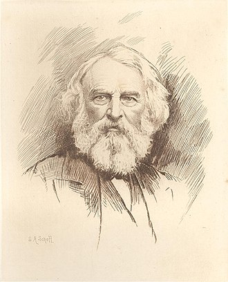 Stephen Alonzo Schoff - Henry Wadsworth Longfellow, Etching by S.A. Schoff