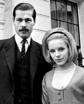 John Bingham, 7th Earl of Lucan - With his wife Veronica Duncan, October 1963