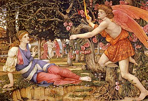 John Roddam Spencer Stanhope - Image: Love and the Maiden