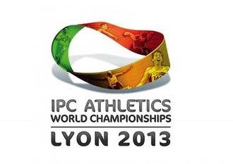 2013 IPC Athletics World Championships - Image: Lyon 2013 IPC Athletics World Championships Logo