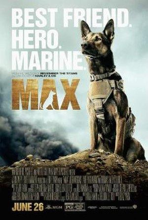 Max (2015 film) - Theatrical release poster