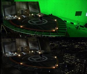 Max Payne (film) - Soho VFX created New York City behind the helipad set