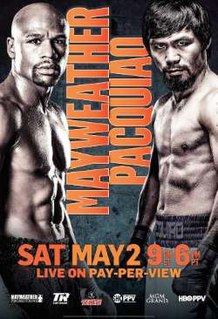 Floyd Mayweather Jr. vs. Manny Pacquiao 2015 boxing match billed as the Fight of the Century