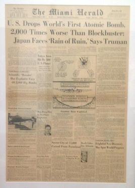 Miami Herald 07 August 1945