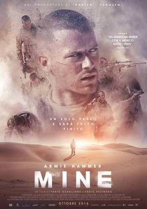 Mine (2016 film) - Italian theatrical release poster